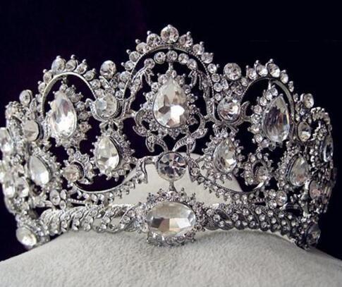 Sparkle Beaded Crystals Crowns Wedding Crowns New Bridal Crystal Velo Tiara Corona Corona Accessori per capelli Party Wedding Tiara HT133