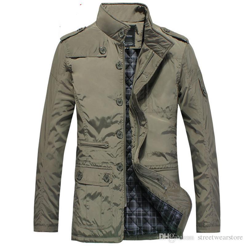 M-5XL Kış ceket erkekler coat sıcak Slim fit Moda jaqueta masculina trençkot casual ceket erkekler Sıcak 2017 Yeni