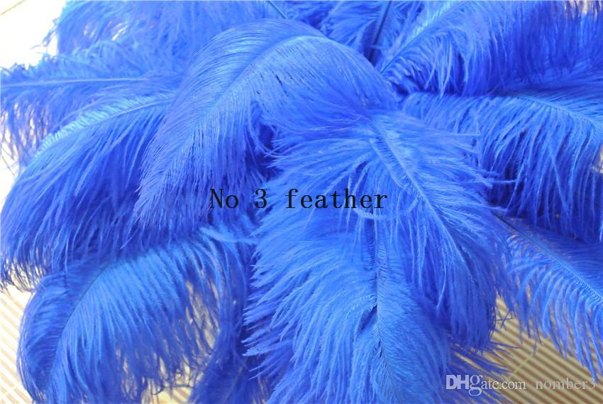 Commercio all'ingrosso 100 pz royal blue piuma di struzzo plume per centrotavola di nozze decorazione di nozze festa evento forniture decorazione di festa