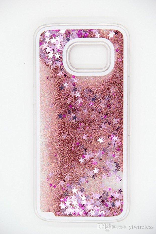 For LG Aristo MS210 LV3 K20 Plus MS250 K10 2017 Stylo 3 Stylus Samsung J3 Prime 2017 Floating Star Bling TPU Liquid Oil Glitter Water Case