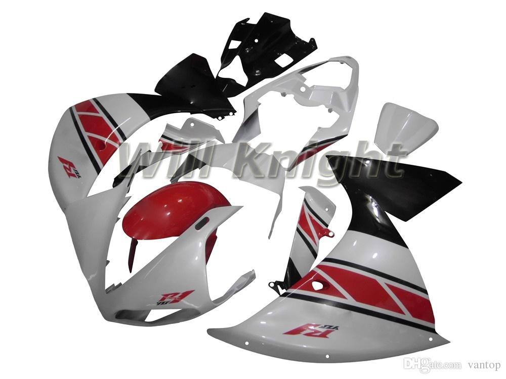 Kit telaio completo per carena stampo iniezione per YZF1000 YZF R1 09 10 Kit kit completo per stampaggio a iniezione ABS bianco rosso nero