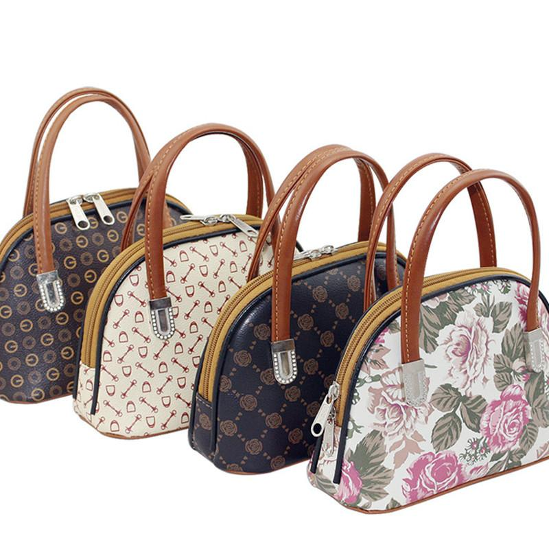 Flower Geometric Pattern Handbag Mummy Shopping Bag Elderly ...