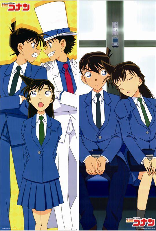 March 2016 Update Hot Anime Case Closed Characters Edogawa Conan & Kudou  Shinichi Body Pillowcase Detective Conan Dakimakura Pink Pillow Cases King