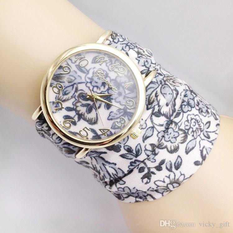watch ladies high new sweet quality fabric cloth product dress girls design fashion flower watches wrist women