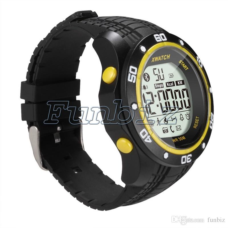 6e95b741eb9 XWatch À Prova D  Água Noite Visível Pedômetro Monitor de Sono Esporte Bluetooth  Relógio Inteligente ...