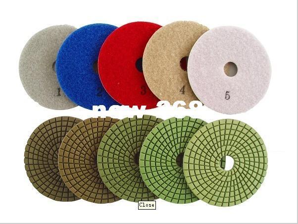 """VENTE CHAUDE 10 pcs / lot 4 """"30 # -3000 # tampons de polissage humide / poli pad granit / meules de diamant outil de polissage"""