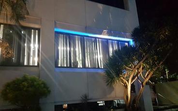 Decoração do hotel Luz de parede 9W IP65 WW / CW / Vermelho / Verde / Azul Luz Luz Iguzzini Janelas Luz em estoque por DHL