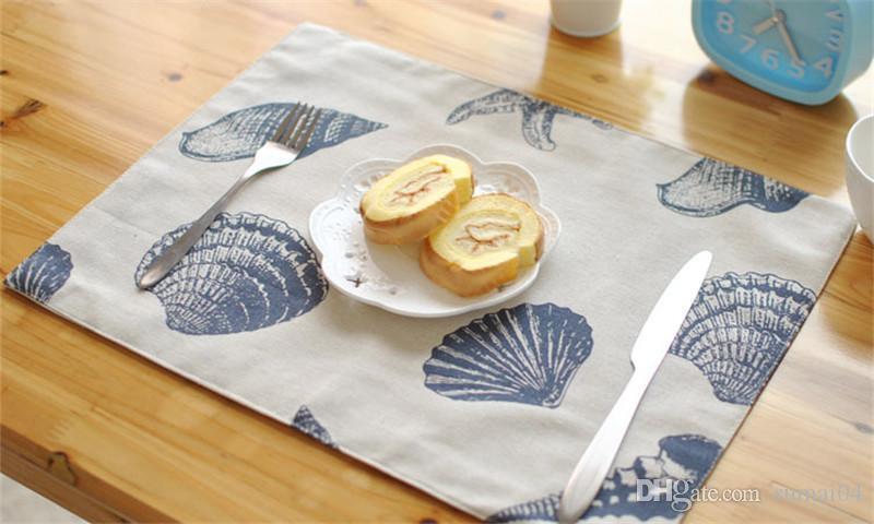 Tabela de alta qualidade esteiras Louça esteiras Pads Mediterrâneo Ocidental placemat pano qualidade almofada de mesa antiderrapante tapetes de cozinha