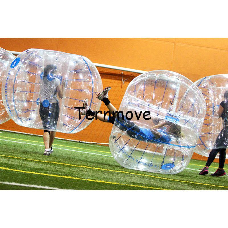 1.2m Limpar bola pára-choques de futebol, humano inflável bola pára-choques de espuma de PVC, pára-choques de futebol bolas de espuma, bolha de Futebol Zorb Futebol
