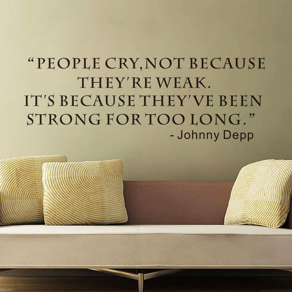 Wall sticker people cry not because they are weak creative quotes wall sticker people cry not because they are weak creative quotes inspirational wall decals living room decoration wallpaper amipublicfo Image collections