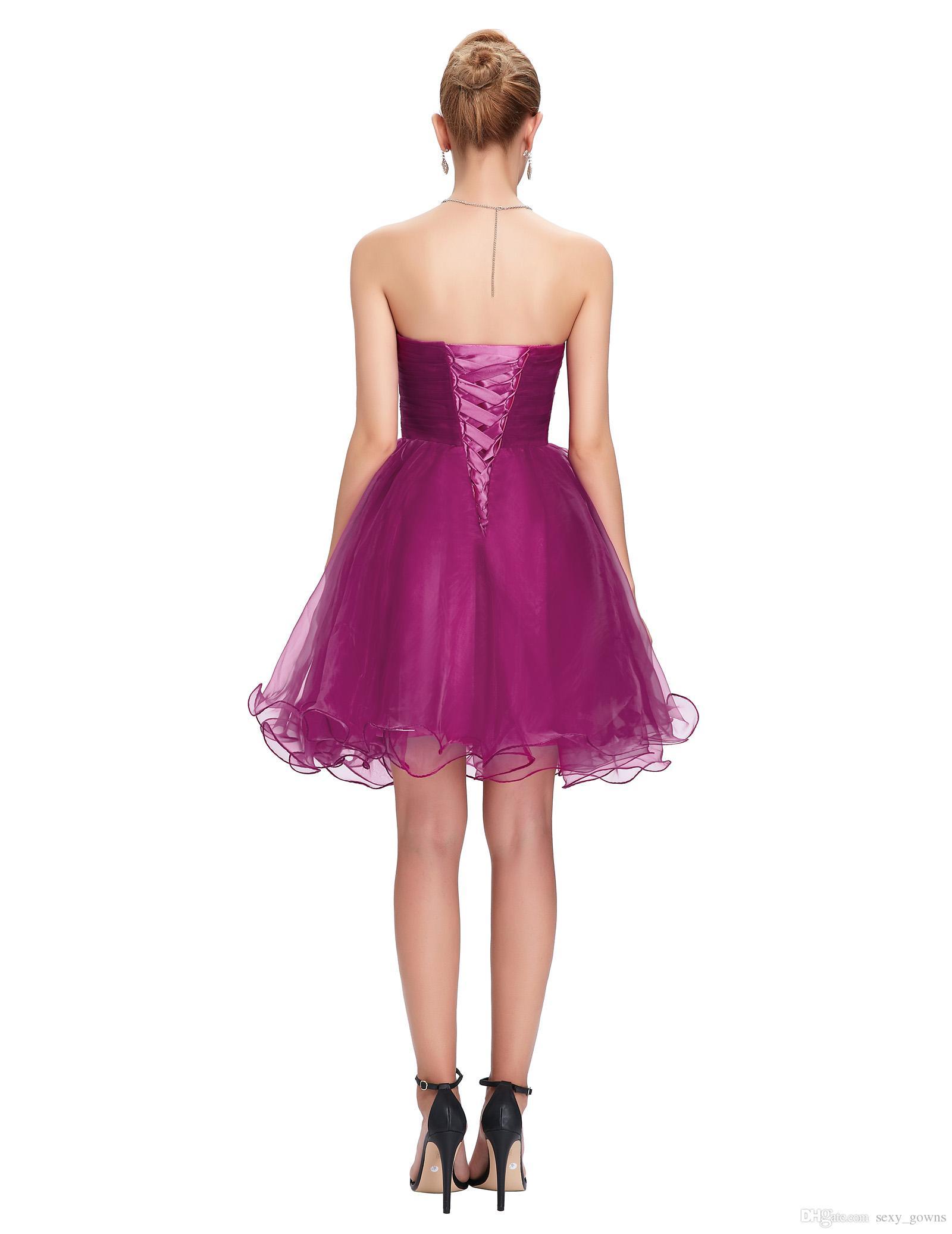 Grace Karin Cheap Bridesmaid Dresses Purple Blue Pink Short ...