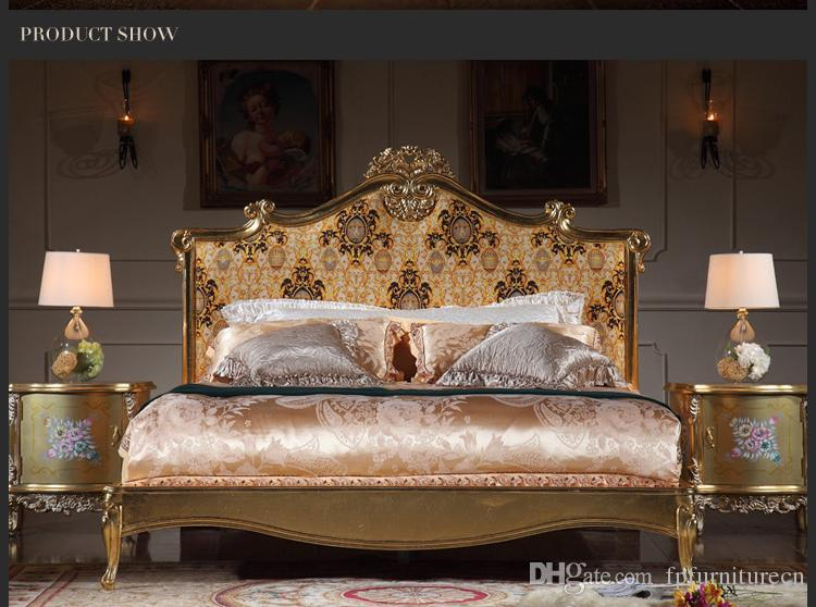 2021 Italian Luxury Bed French Rococo, Rococo Bedroom Furniture