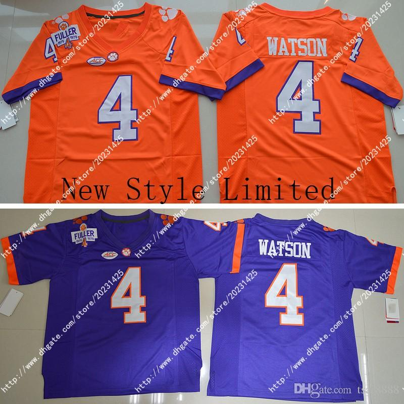 2021 Newest Wholesale Cheap Clemson Tigers 4 DeShaun Watson Orange ...