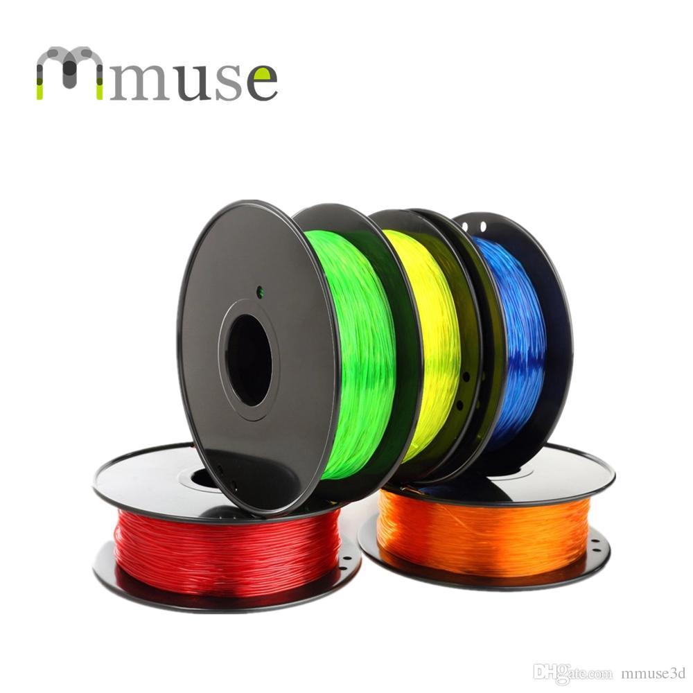 0,8 kg / rotolo Filamento 3D flessibile TPU 1,75 mm per Makerbot Reprap Mendel UP 3D Printer