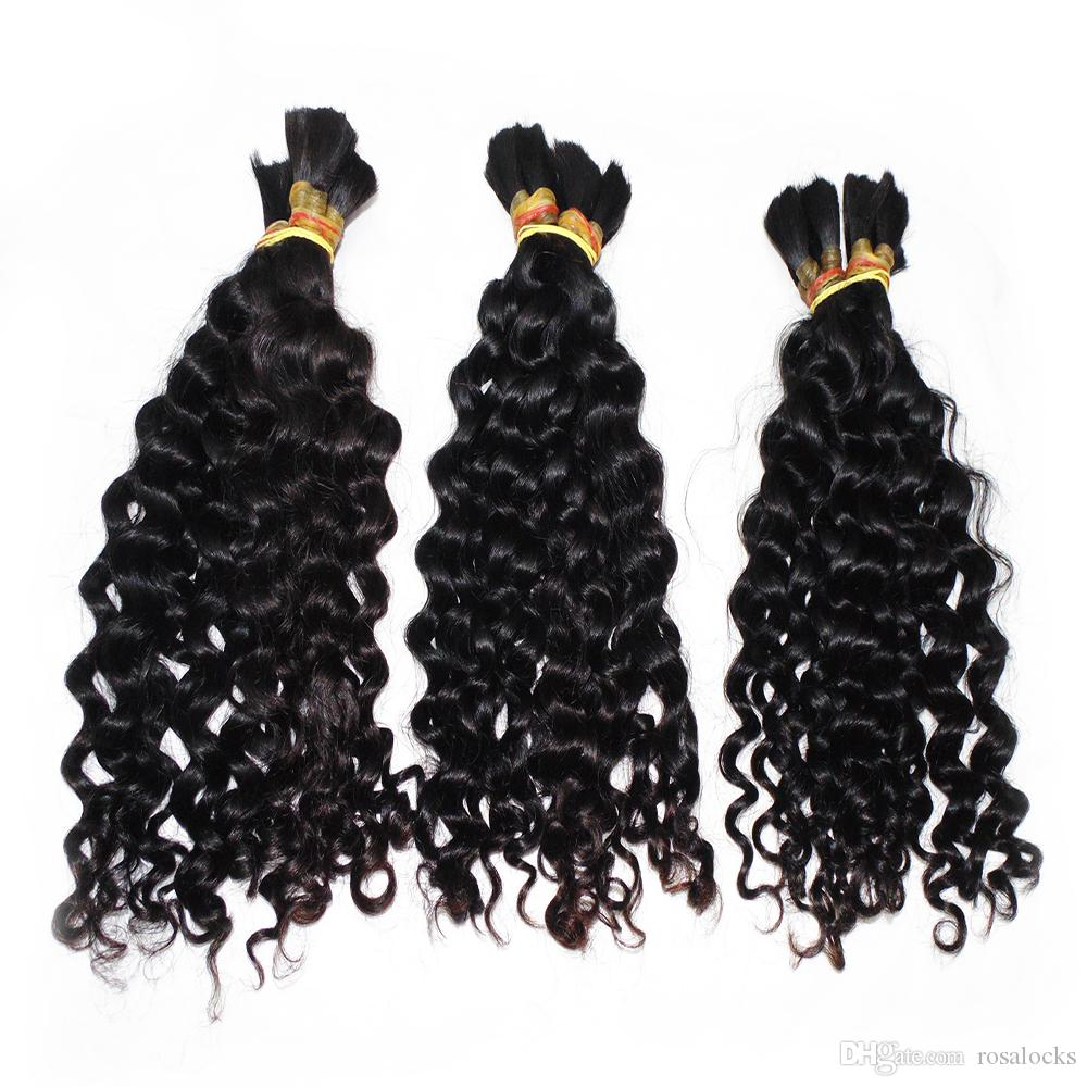 Factory Direct solto onda profunda massa de Cabelo 3 Pacotes / lot Weave Good Hair Braid peruano do cabelo humano