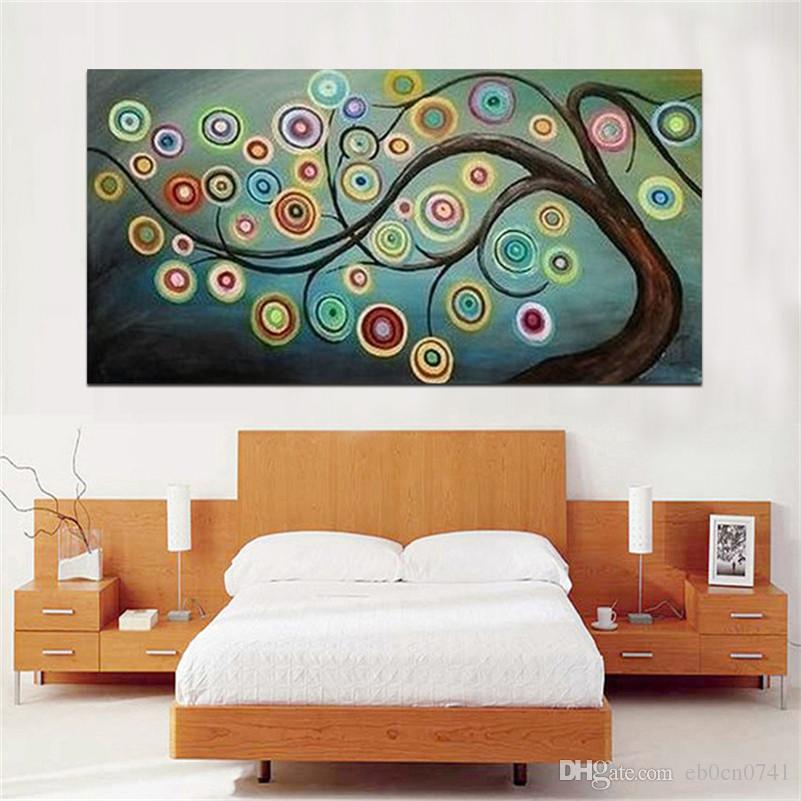 100%hand painted modern Art Wall home decor Canvas oil painting Fortune tree 2014 new abstract Landscape oil paintings