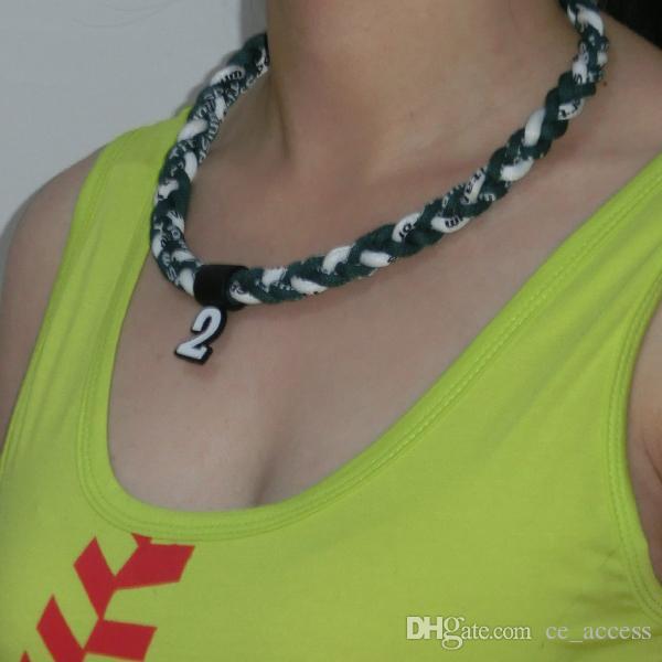 Ge-Titanium Sports Energy Twisted Collares (GT-063) tornado collar 3 cuerdas collar