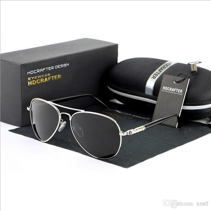 Высокое качество Марка поляризованные линзы солнцезащитные очки для мужчин лягушка зеркальное покрытие зеркальные очки оттенки вождения Рыбалка солнцезащитные очки оригинальная коробка