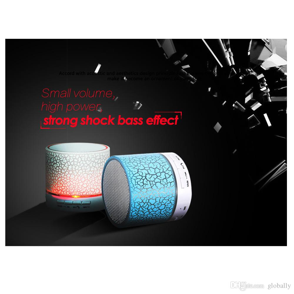 A9 Wireless Bluetooth Speaker Portable LED MINI Hands Free TF USB Subwoofer Music Sound Player For Car Phone iphone PC free shipping