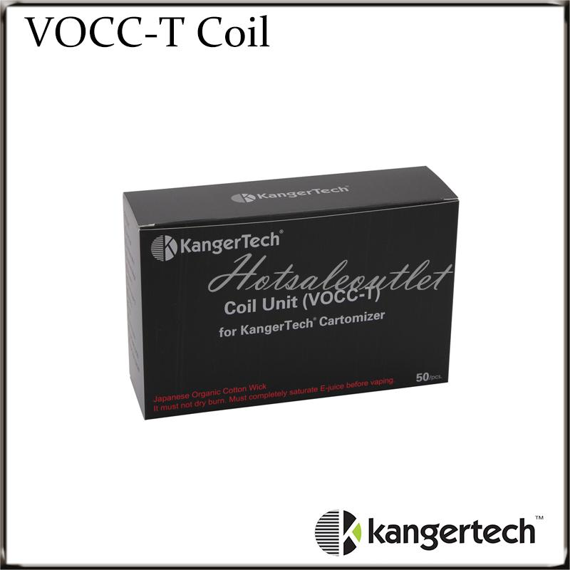 Kangertech VOCC-T Coil For Topevod Kit VOCC T Coils Fit All Kanger Dual Coil Units Genitank Mini Protank 3 EVOD Glass Atomizer 100% Original