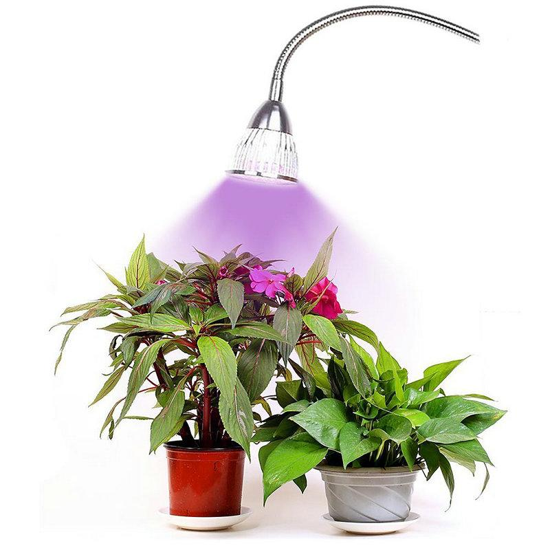 10pcs High quality circular 5W plant growth lamp blossom fruit seedling and egetables succulent plants led grow light red blue light