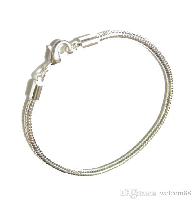 10pcs / lot argent plaqué bracelet bracelets pour bricolage artisanat mode bijoux Gfit livraison gratuite 7.8inch C10