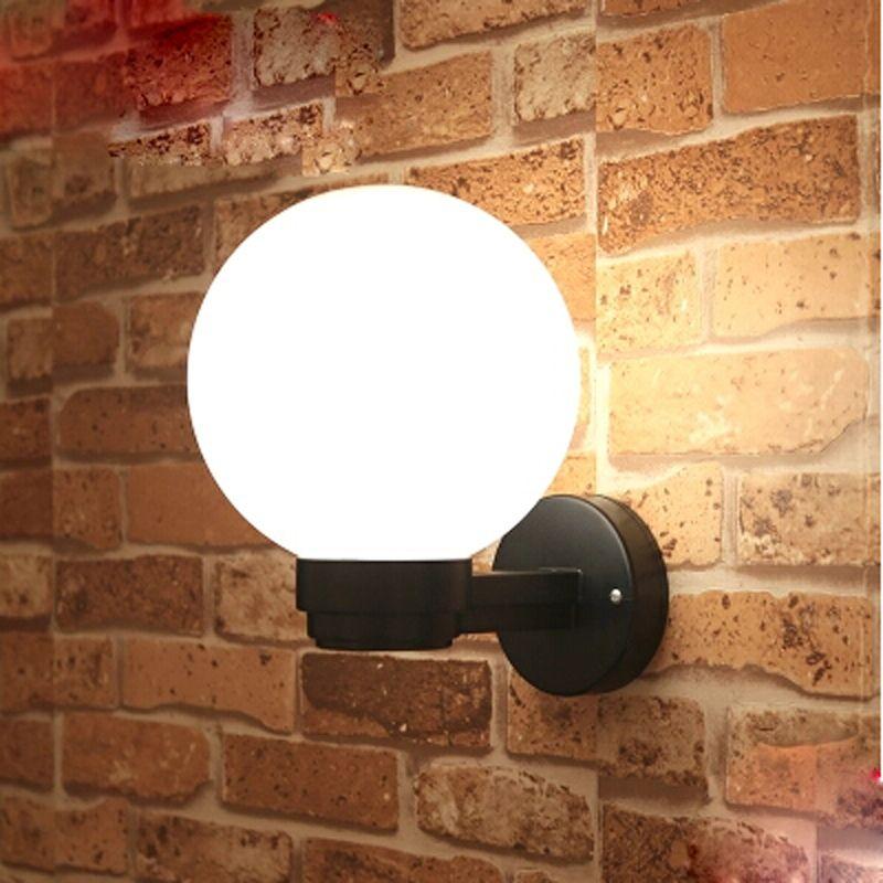 Lampada da parete a LED a sfera in acrilico Lampada da parete a sfera da comodino, lampada da parete per esterni AC85-265V Lampada da bagno con specchio anti-appannamento Lampada da giardino a LED