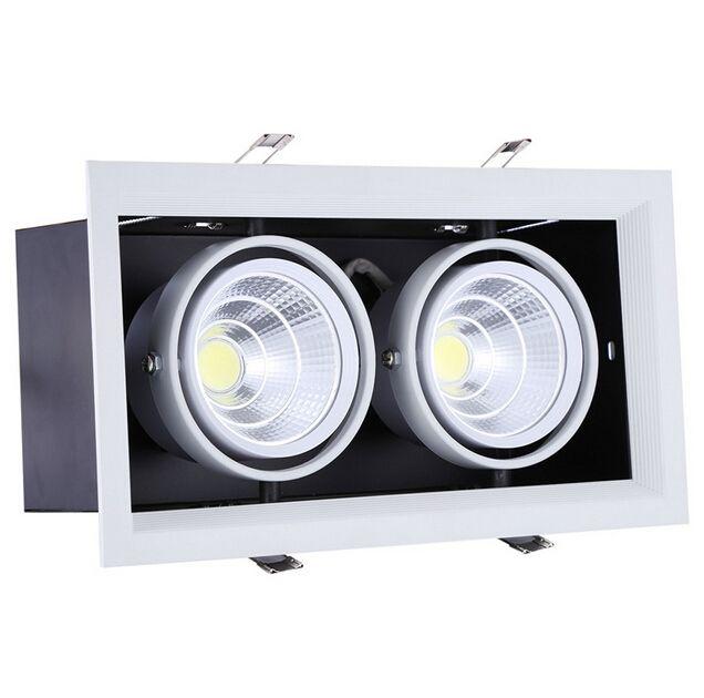 Heißer Verkauf Super-2 * 15W Warm Cold White Doppel COB LED Downlight mit Strom Treiber 30W COB-LED-Deckenleuchte Größe: 275 * 145mm AC85-265V