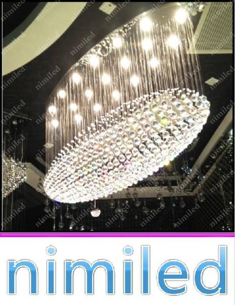 nimi685 L70 / 90/100/120 / 150cm Oval LED Kristall Kronleuchter Lampe Wohnzimmer Esszimmer Lichter Hotel Bar Restaurant Villen Anhänger Beleuchtung