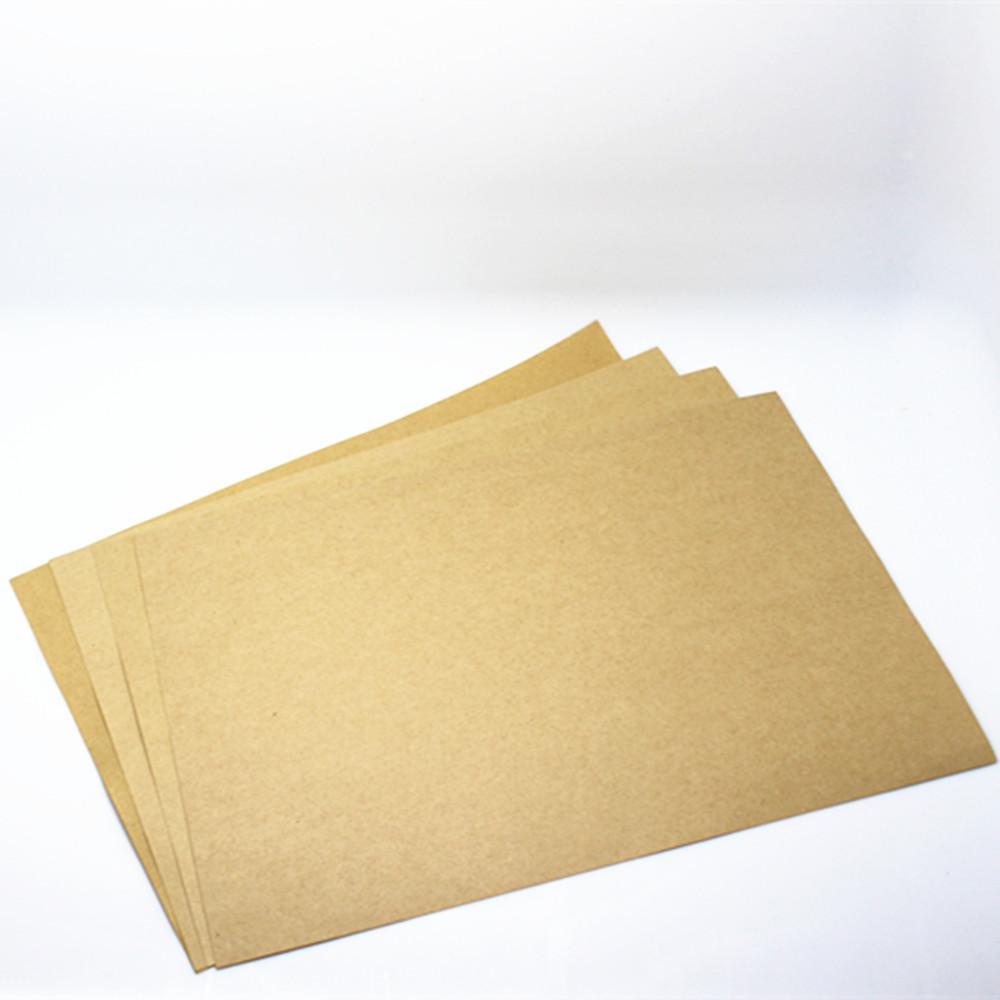 "Wholesale- 21*29.7cm 100Pcs/ Lot Light Brown Standard Kraft Paper A4 Writing Paper Office School Supplies 8.26""x11.69"" Copy Printing Papers"