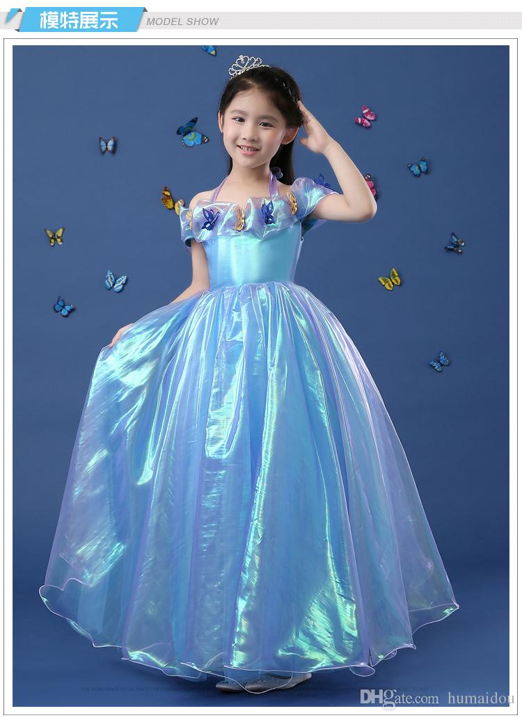 2016 New Cinderella Kids Dress Retail Princess Girl Dress Off ...