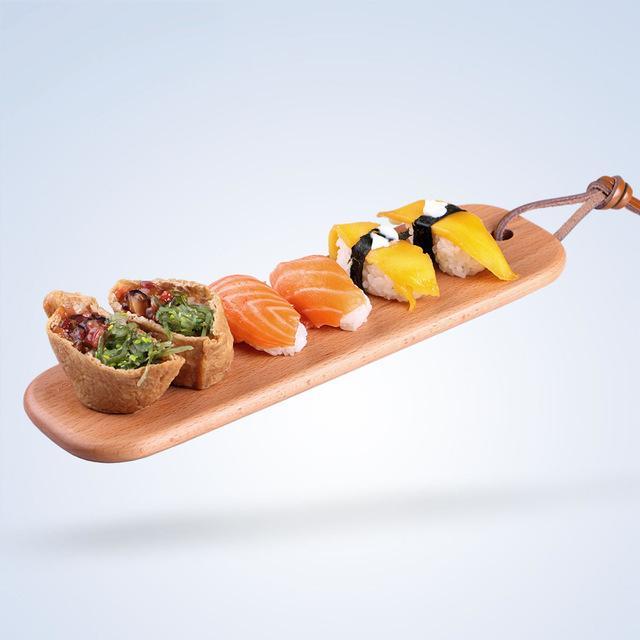 """11 * 3,5 """"Rechteck Holz Tablett Sushi / Kuchen / Kekse Platte Gesunde Obstschale Handwerk Serviertablett Japanischen Stil Küche Utensilien"""