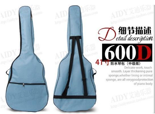 """Alta calidad del envío libre 40 """"caja popular de la guitarra cremallera lateral impermeable bolso de la guitarra Bolso de la mochila Venta caliente"""
