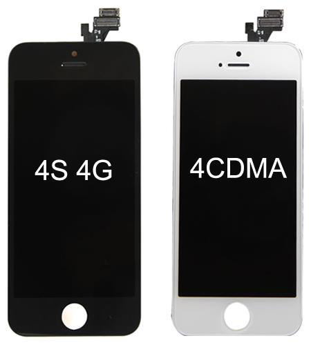 For iPhone 4 4S LCD Display Touch Screen Digitizer Full Assembly Replacement Parts Black White DHL Free SNP015