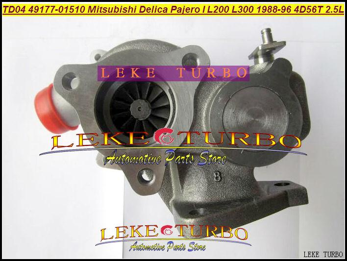 NEW TD04-09B 49177-01510 49177-01511 Oil cooled Turbo Turbocharger For Mitsubishi Delica Pajero I L200 L300 1988-1996 4D56T 2.5L