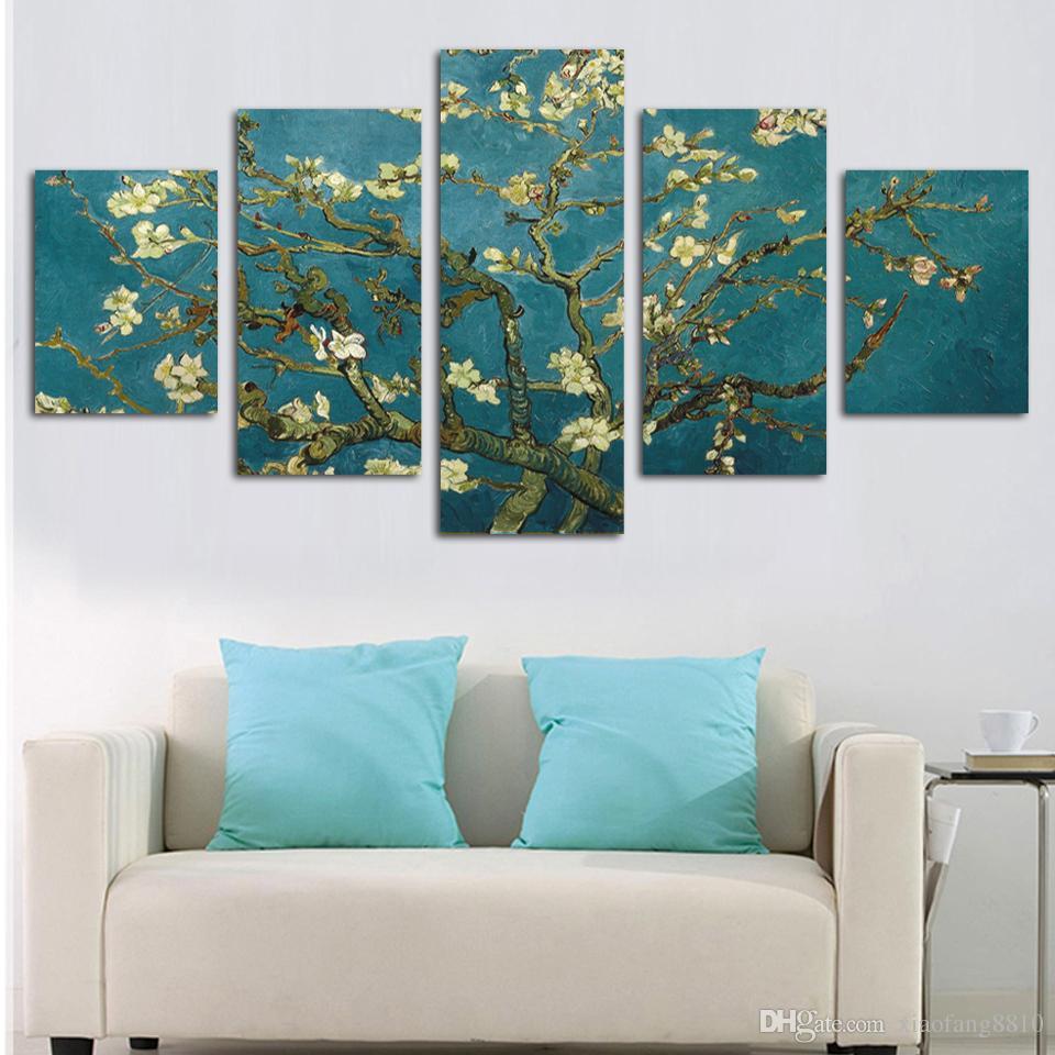 Handgemalte moderne abstrakte Blumen-Segeltuch-Kunst-Dekoration des Ölgemäldes HD großes Bild druckte auf Segeltuch Wand-Bilder No Framed