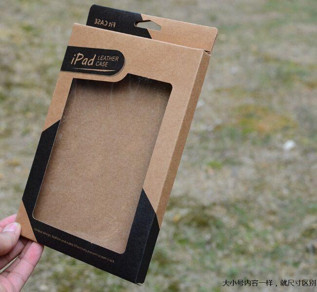 Universal Kraft Brown Paper Box Scatole di imballaggio Box per 9.7 Ipad 6 Air 5 6 AIR2 5 3 4 7.9 Mini 2 custodia in pelle PU