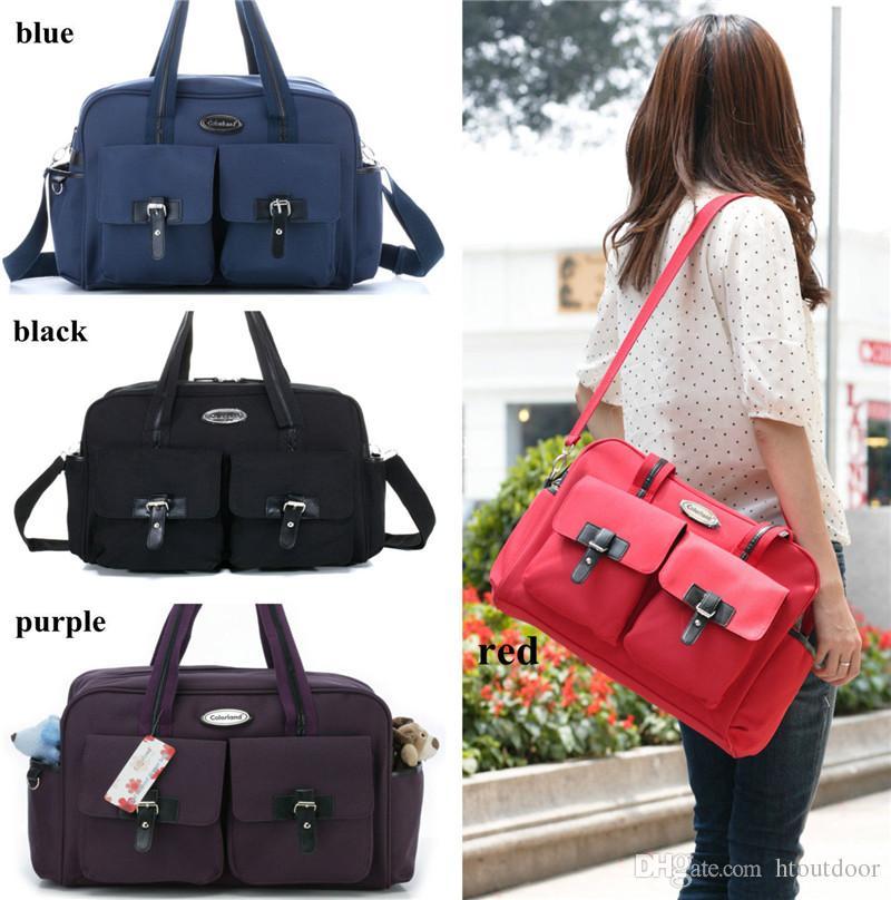 Multifunction Large Capacity Mommy Handbag Outdoor Travel Baby Diaper Changing Pad Nappy Bag Mummy Messenger Bag Single Belt Shoulder Pack
