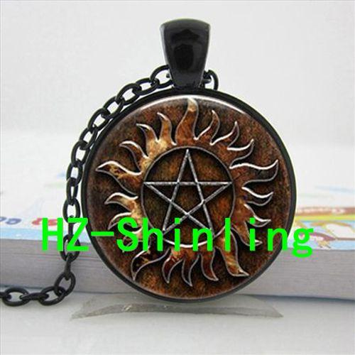 2016 New Round Glass Cabochon 25mm Supernatural Protection Symbol