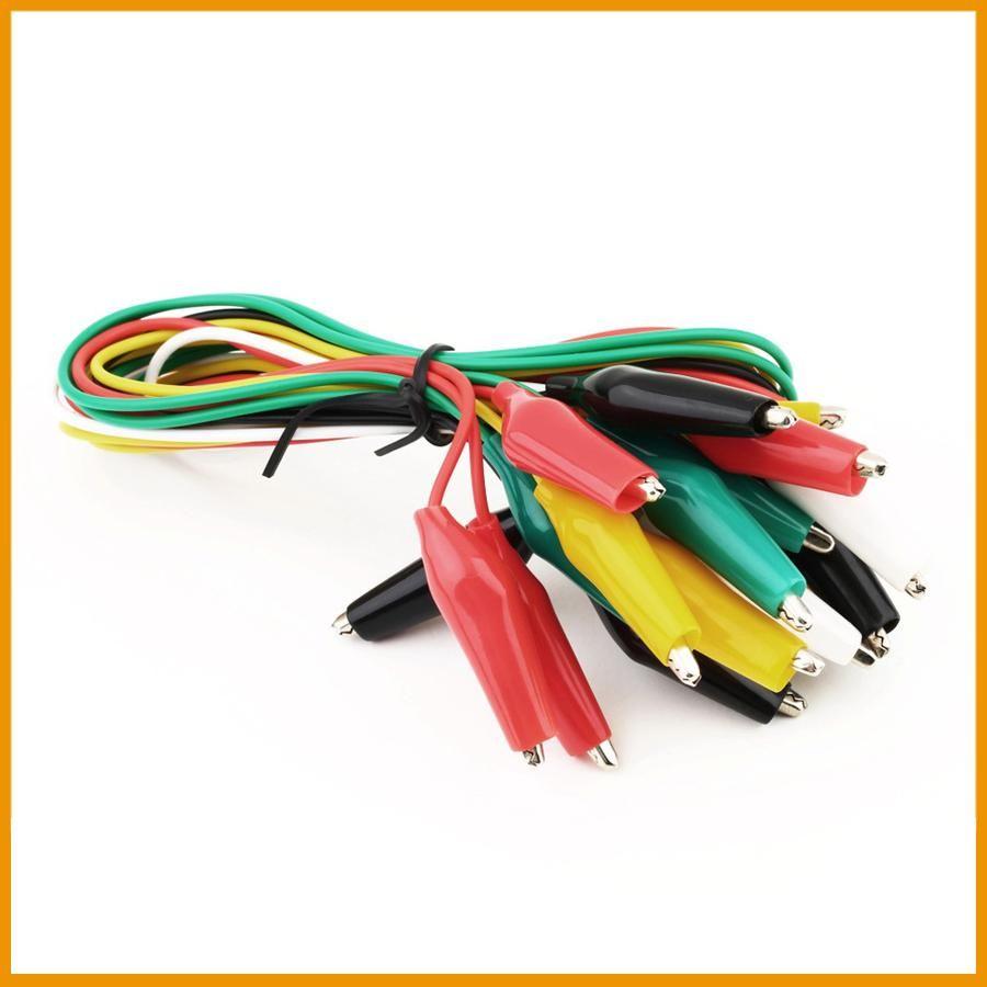 Multicolored 10 PCS Pack Alligator//Crocodile clips Test Leads