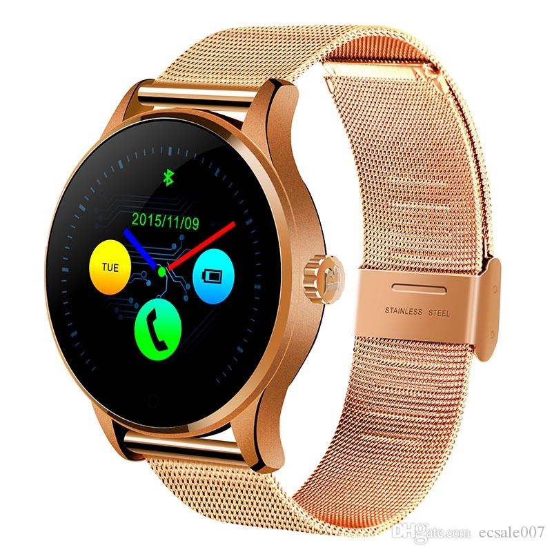 K88H Smart Watch 1.22 Inch IPS Round Screen Support Heart Rate Monitor Bluetooth smartWatch For apple huawei IOS Android