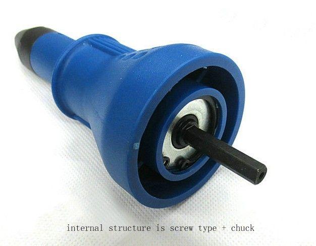 Taiwan Labear Rivet électrique Pistolet Riveting Tool Riveting Adaptateur de forage Riveter Insérer un outil Nail 3.2-6.4mm T03020-2