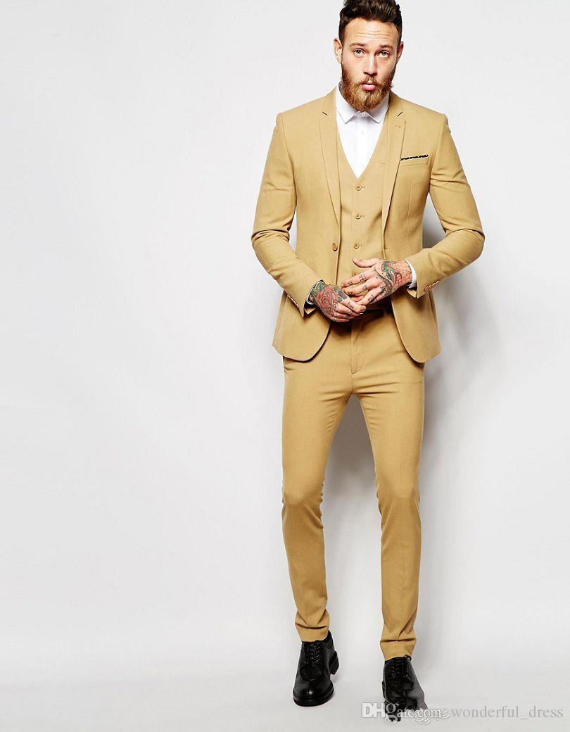 Cheap Asos Wedding Super Skinny Fit Suit In Camel Man Suit Custom ...