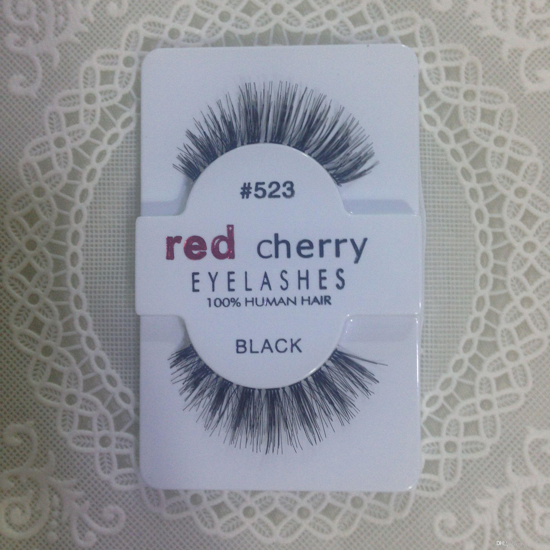 Завод прямой экспорт Красная вишня красная вишня ручной работы природных накладные ресницы красоты продажа бесплатно блестящие синтетические волосы