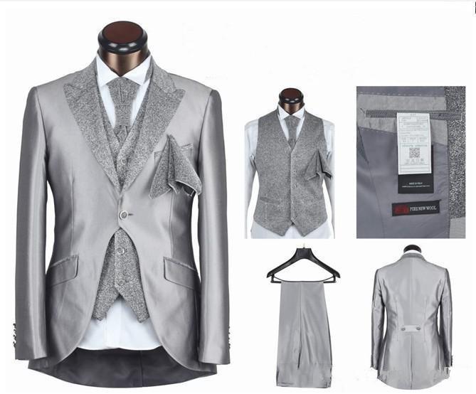 2016 vendita calda mens abiti da sposa sposo smoking per matrimonio nero bianco Vintage Best Men Classic