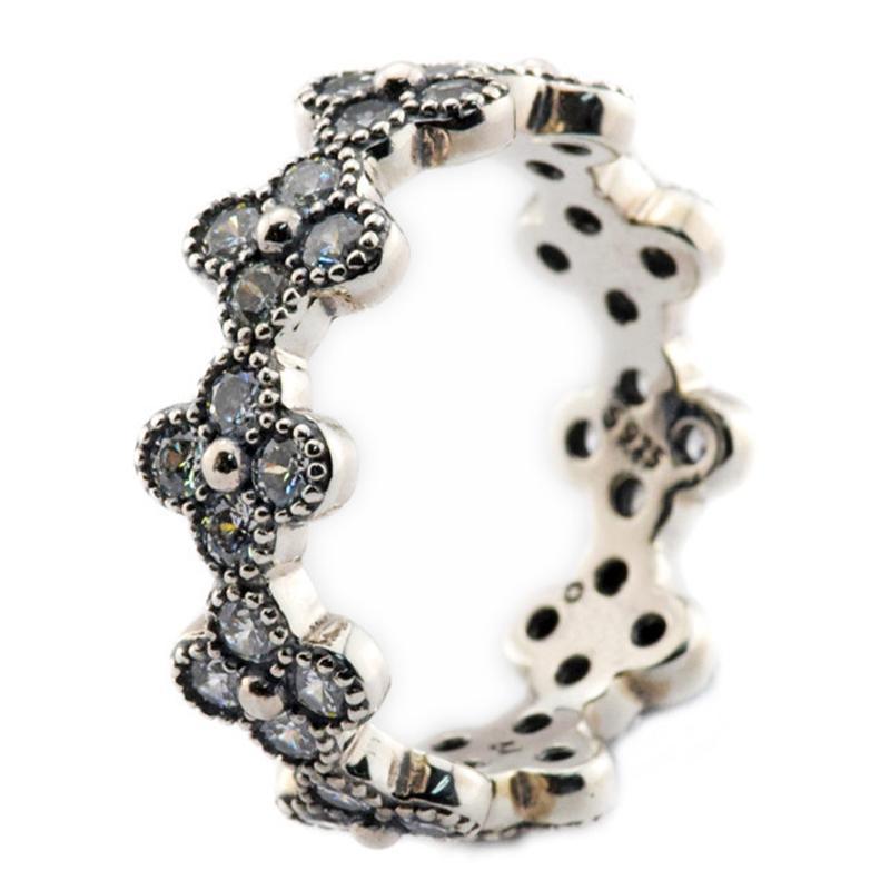 Oriental Blossom Klar CZ 2016 Sommer 100% 925 Sterling Silber Ring Fit Pandora Charms Ring Authentische Edlen Schmuck
