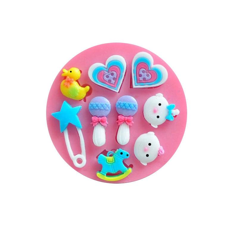 baby toy silicone fondant cake mold ,candle molds, chocolate mould for cakes free shipping TY1906