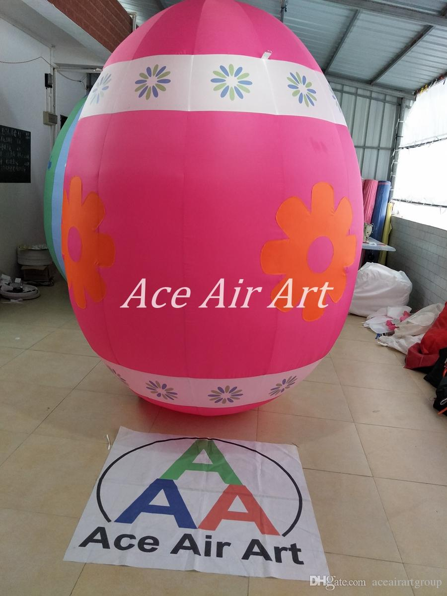 Oxford fabric Factory directly beautiful easter outdoor decoration inflatable eggs