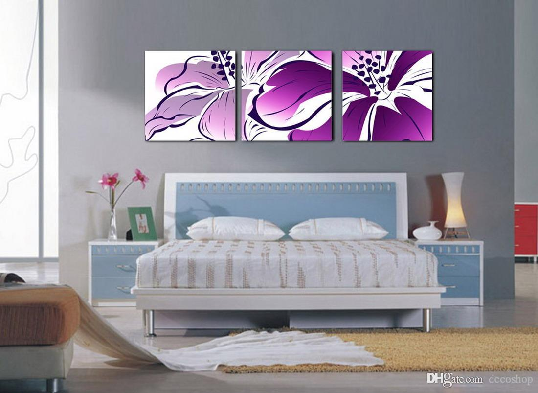 Beautiful Flowers Abstract Floral Painting Giclee Print On Canvas Home Decor Wall Art Set30117