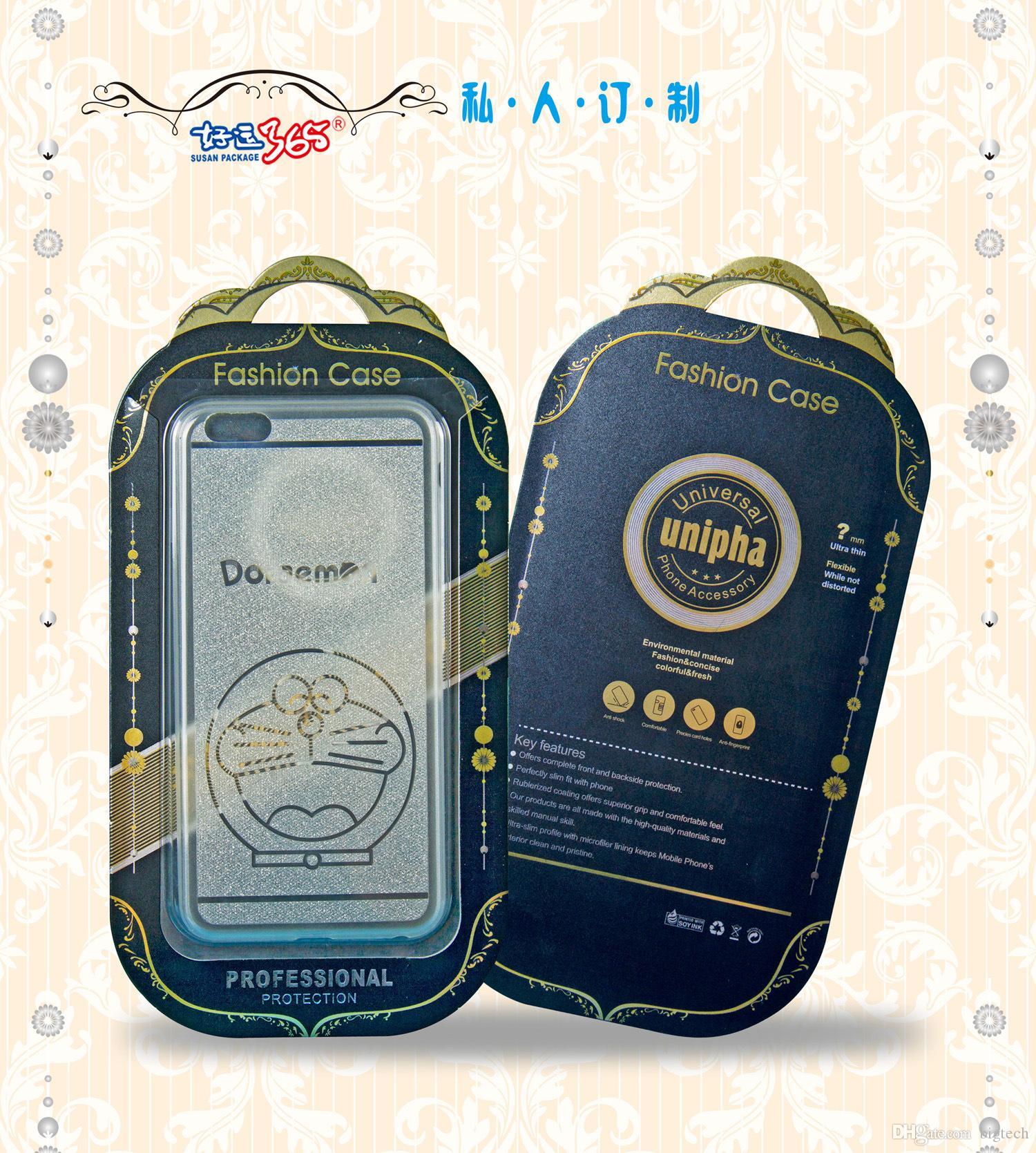500pcs 아이폰에 대 한 강화 유리 화면 보호기에 대 한 지우기 창 패키지와 고급 골 판지 삼성 전자 HTC LG 포장 상자